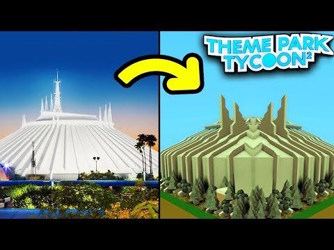EXACT REPLICA SPACE MOUNTAIN in Theme Park Tycoon 2! - Roblox