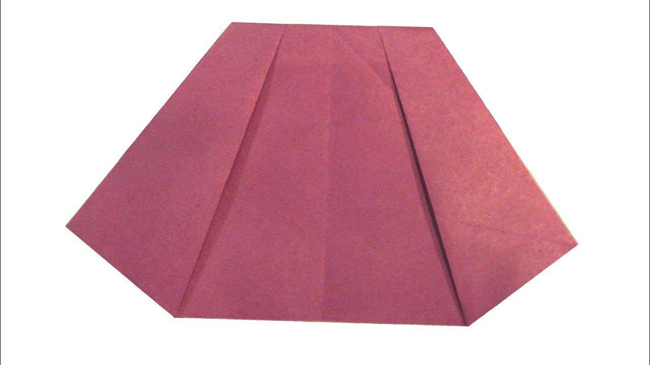 Оригами на юбке