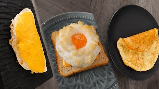 3 РЕЦЕПТА яичницы на завтрак!1!1