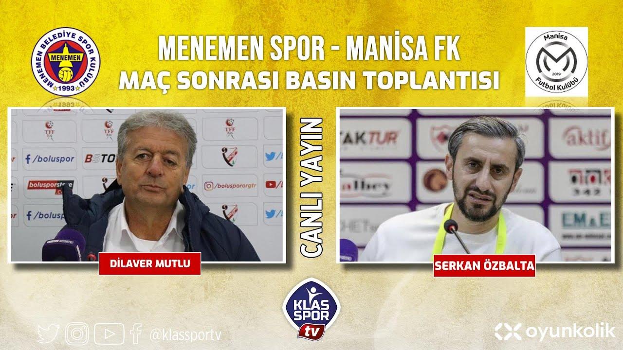 Menemenspor - Manisa FK Basın Toplantısı ᴴᴰ (CANLI)