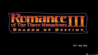 Romance of the three Kingdoms 3 gameplay (PC Game, 1992)