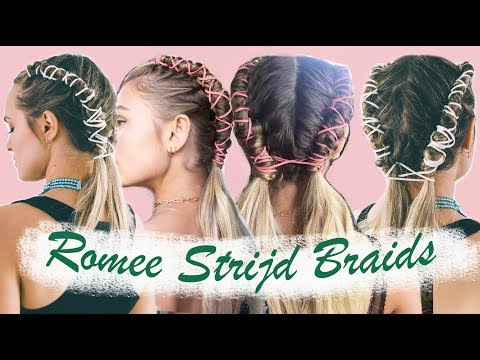 How to do Romee Strijds Coachella Pipe Braids & an easy version!  KayleyMelissa