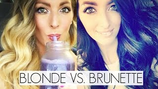 Dying my hair blonde to black + What I Ate Vlog