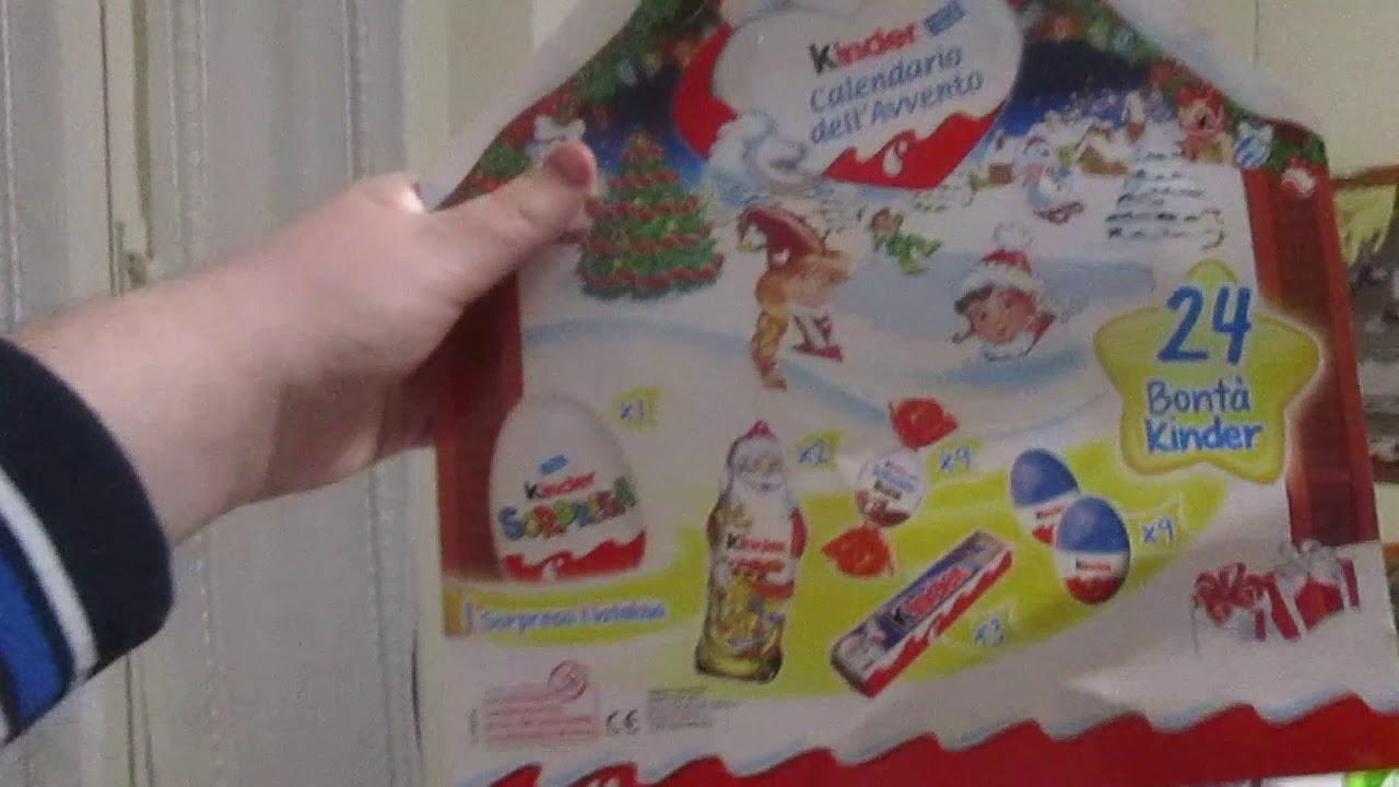 Unboxing Calendario dell' Avvento Kinder - YouTube