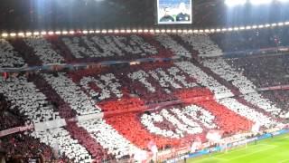 FC Bayern - Manchester United Choreo Südkurve