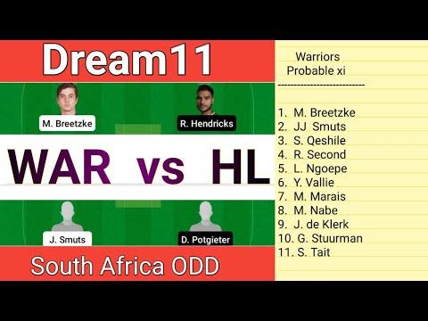 WAR vs HL Dream11, South Africa ODD, Warriors vs Highveld lions Dream11, WAR vs HL Dream11