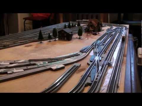 Тестирование нового макета железной дороги Marklin Z scale