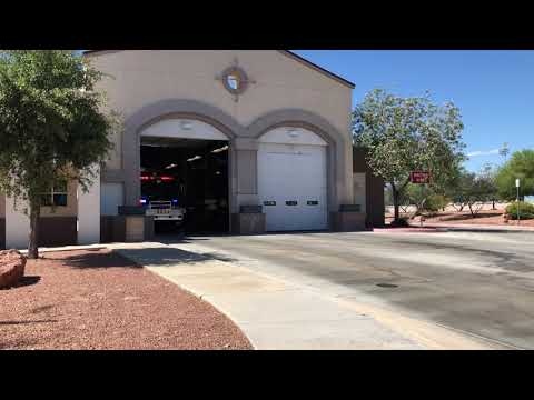 Las Vegas Fire and Rescue Heavy Rescue 44 leaving station code 3 to an emergency call