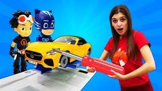 Герои вМасках иРасти-Механик (Rusty Rivets)— Динобот решил, что онКОТЕНОК! —ToyClub
