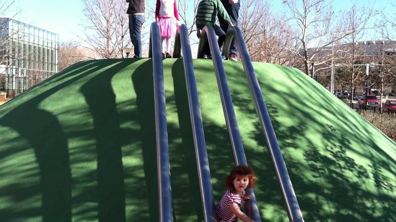 Children 39 S Garden Slide At Myriad Botanical Gardens In Bricktown Youtube