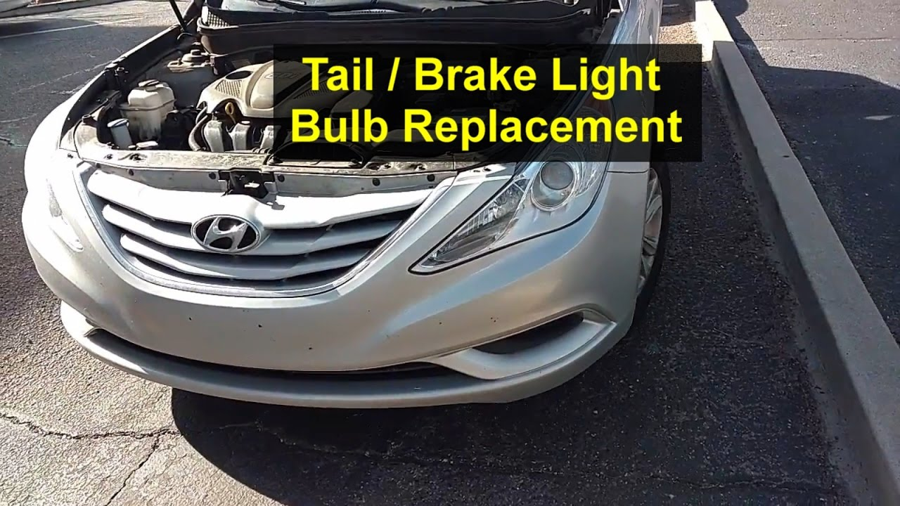 small resolution of tail and brake light bulb replacement hyundai sonata votd