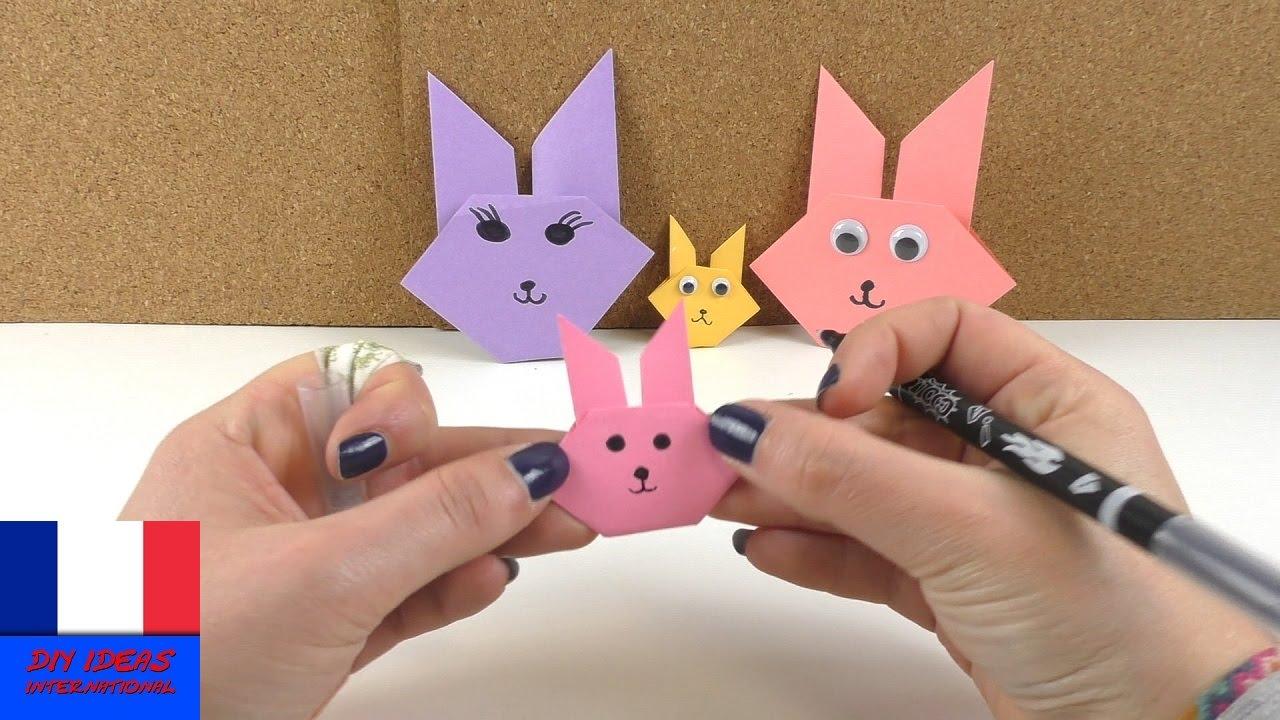Tete De Lapin De Paques En Origami A Plier Bricoler Un Lapin De