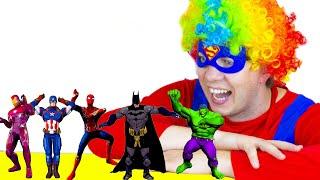 Superheroes Dance with Naflandia 색칠공부를 하면 슈퍼히어로랑 신나게 춤을 춘다고? 헐크 스파이더맨 캡틴 아메리카 배트맨