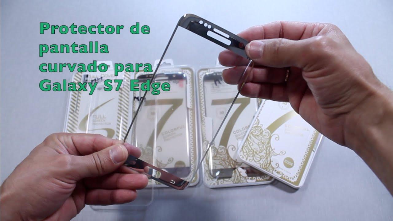 carcasa samsung s7 edge silicona con cristal templado