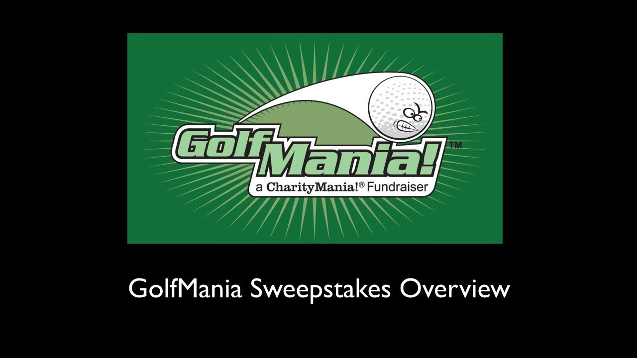 GolfMania Overview Video ($20 Fundraiser). charitymania