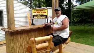 Bar Stools & Rum? New Tiki Kev Swivel Bar Stools