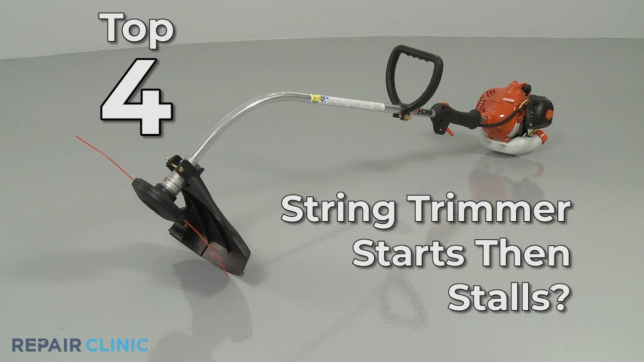 Top Reasons String Trimmer Starting, Then Stalling — String Trimmer  Troubleshooting
