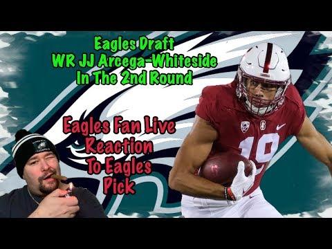 Eagles Draft J.J. Arcega-Whiteside | Eagles Fan Live Reaction | Round 2