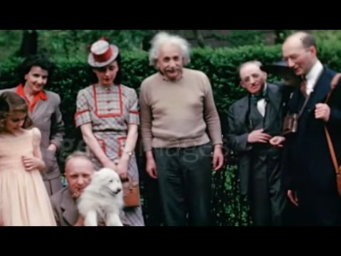 Albert Einstein colour footage