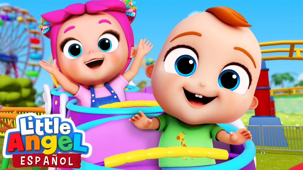 Vamos a Jugar al Parque de Atracciones | Canciones Infantiles de Bebé Juan | Little Angel Español
