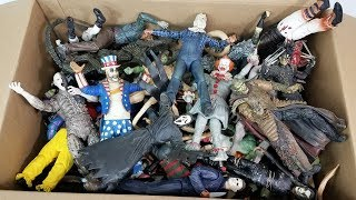 BIG BOX FULL OF HORROR & WWE ACTION FIGURES