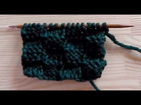 89964b852846e How to knit the basket weave pattern - YouTube