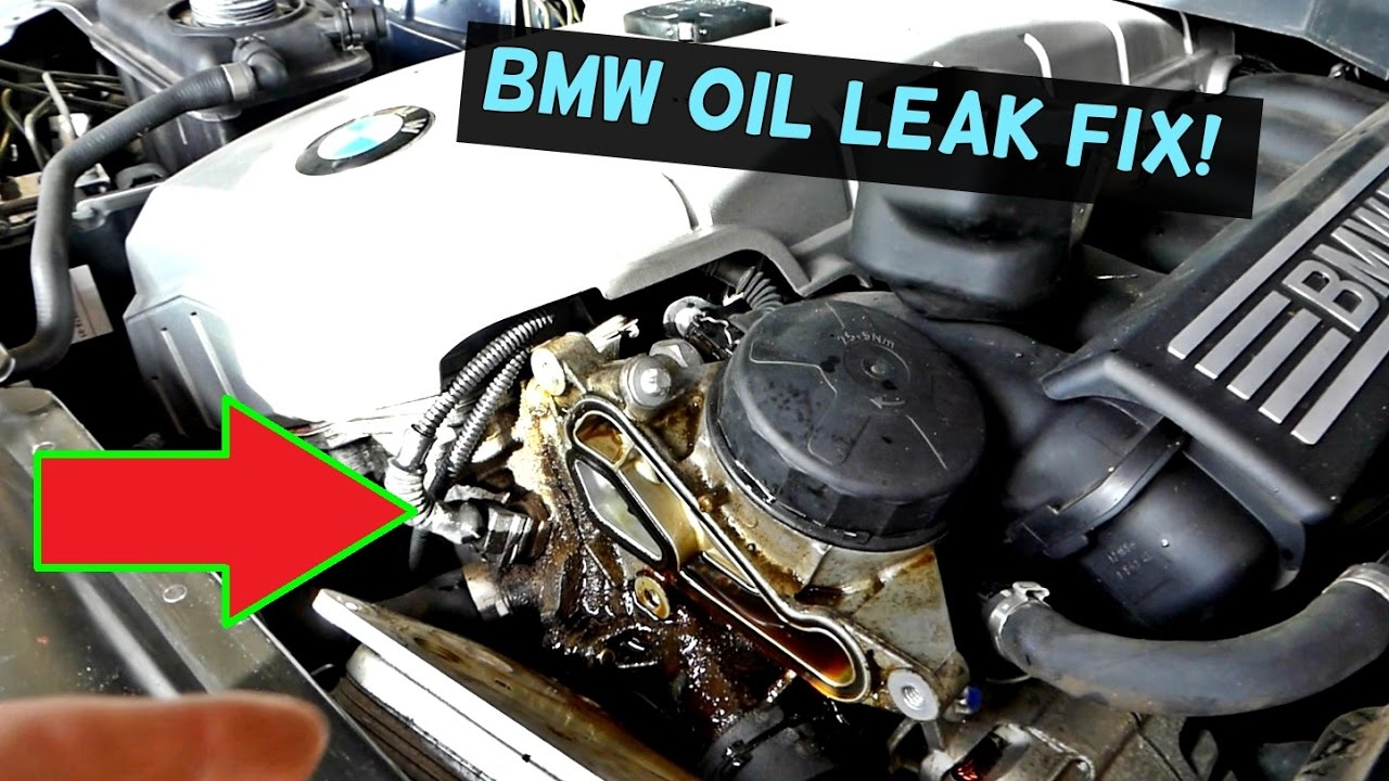 medium resolution of bmw e60 e61 oil leak fix oil filter housing gasket replacement and leak fix