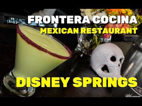 Frontera Cocina restaurant menu highlights at Disney Springs