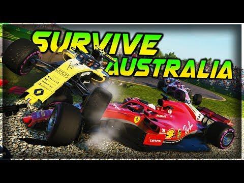 SURVIVE AUSTRALIA - F  Extreme Damage F Game Keyboard Challenge