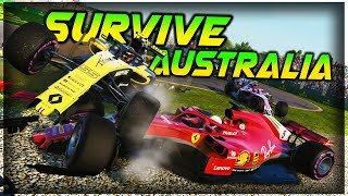 SURVIVE AUSTRALIA - F1 2018 Extreme Damage F1 Game Keyboard Challenge