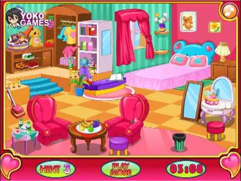 Детская игра, Уборка в комнате, игры для детей