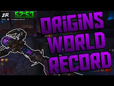 'ORIGINS' SOLO EASTER EGG SPEED RUN WORLD RECORD - 52:53 (Black Ops 2 Zombies)