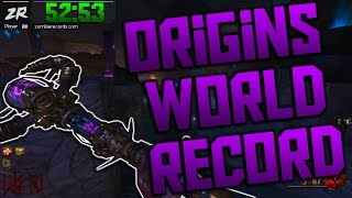 'ORIGINS' SOLO EASTER EGG SPEED RUN - 52:53 (Black Ops 2 Zombies)