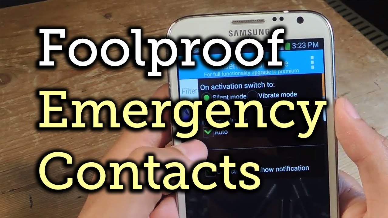 How to Set Emergency Contacts to Bypass Silent & Vibrate Modes on