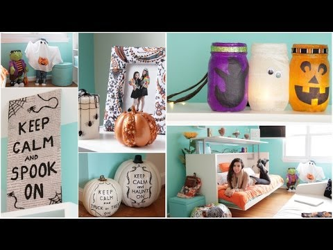 roomspiration 3 easy diys decorating my room for halloween beautytakenin - Homemade Halloween House Decorations