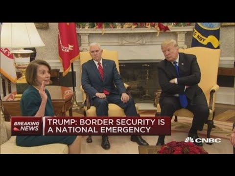 Watch Trumps heated meeting over border security with Democratic leaders