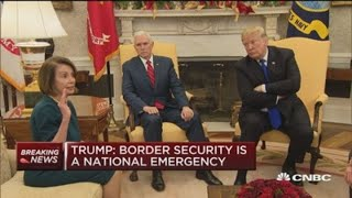 Watch Trump's heated meeting over border security with Democratic leaders
