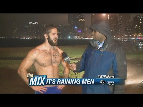 Shirtless Man in The Rain | ABC News