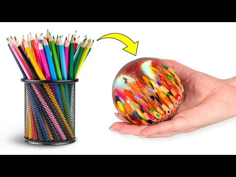How A Pencil Planet Is Made | An Epoxy Resin Project