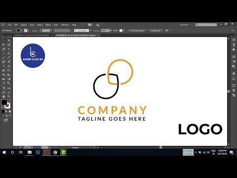 How to make a circle logo in illustrator -  logo Tutorial thumbnail