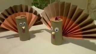 Como hacer un pavo o turkey de carton reciclado [thanksgiving]
