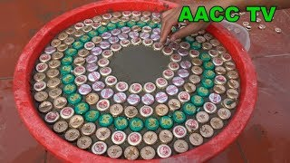 Amazing Technique Making Coffee Tables From Cement And 1000 Bottle Caps