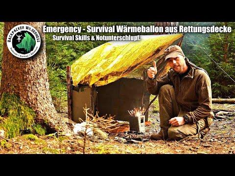 Emergency - Survival Wärmeballon aus Rettungsdecke - Survival Skills & Notunterschlupf