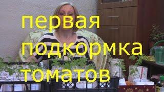 видео Подкормки рассады томатов