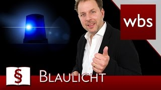 Jura Basics: Was bedeuten Blaulicht und Martinshorn wirklich? | Rechtsanwalt Christian Solmecke
