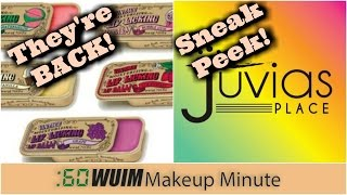 Makeup Minute   THE RETURN OF TINTE LIP BALM TINS + JUVIA'S PLACE SAHARAN SNEAK PEEK!   WUIM
