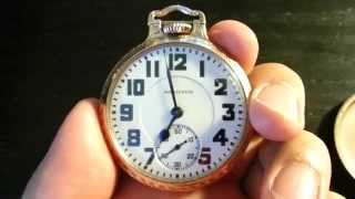 Hamilton 23-Jewel, 950 16-Size Bar Over Crown Railroad Pocket Watch ~ see VIDEO!