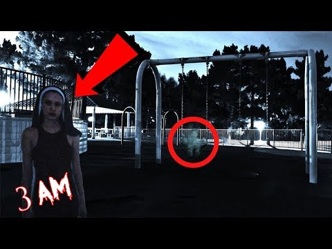 (LIGHTS OUT CHALLENGE) DONT PLAY AT FOX RIDGE PARK AT 3 AM | WE CAUGHT A NUN GIRL DOING A RITUAL!