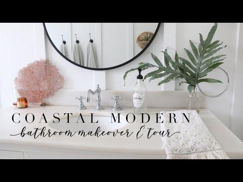 COASTAL MODERN BATHROOM MAKEOVER + TOUR