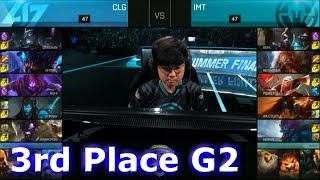 Immortals vs CLG | Game 2 for 3rd Place S6 NA LCS Summer 2016 PlayOffs | IMT vs CLG G2 1080p